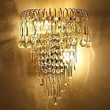 Luxus K9 Kristall Wandleuchte Europäischen Kreativen Wohnzimmer TV Licht Gold Doppel-Innen-Innenbeleuchtung Wandleuchte