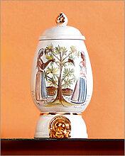 Luxus Kaffeedose Antique handbemalt