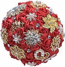 Luxus Kristall Hochzeit Bouquet Weiß Brautstrauß