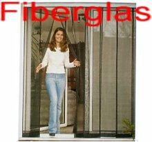 LUXUS Lamellen-Vorhang Fiberglas 100 x 220 cm UV-beständig Insektenschutz Fliegengitter