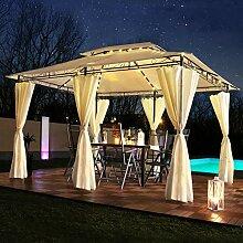 Luxus LED - Pavillon 3x4m Minzo - inkl.