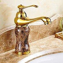 Luxus Marmor goldener Hahn Kaffee Farbe Marmor