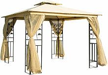 ® Luxus Pavillon 3x3 m wetterfest - gelb/schwarz