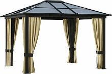 ® Luxus Pavillon Alu Gartenzelt mit