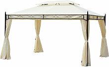 ® Luxus Pavillon Gartenzelt Pagode 3x4 m -