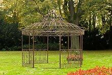 Luxus Pavillon XXL Romantik rund Ø 5 m-antik/braun