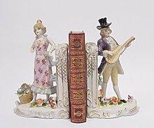 Luxus Pur UG Buchstütze Porzellan Mann Frau