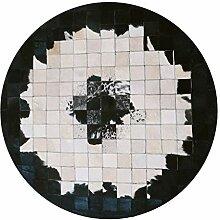 Luxus Rindsleder Teppich | Runder Teppich für
