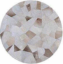 Luxus Rindsleder Teppich   Runder Teppich für