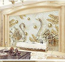 Luxus Schmuck 3D Anaglyphe Schwan Wohnzimmer TV