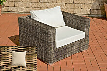 Luxus Sessel Barcelona-rund/natura-Cremeweiß