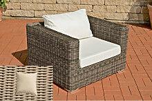 Luxus Sessel Barcelona-rund/perlweiß-Cremeweiß