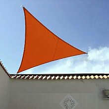 LUXUS Terrassen Sonnensegel dreieck der ExtraKlasse 3,00m Terra wasserdichtRegenschutz Windschutz von Dekowelten