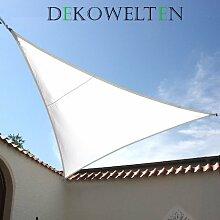 LUXUS Terrassen Sonnensegel dreieck der ExtraKlasse 3,00m wasserdicht weiß Regenschutz