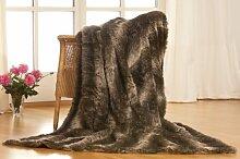 Luxus Überwurfdecke Kuscheldecke Felldecke STEPPENWOLF 1tlg. 150 * 200cm