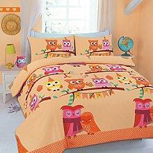 Luxus und modern niedliche Eulen/Bettbezug und