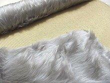Luxus Weich Kunstfell Stoff Teppich Silber