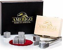 Luxus Whisky Steine Geschenkset von Amerigo - Set