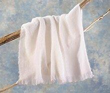 Luxus Wolldecke aus 100% Mohair, Mohairdecke, Mohairplaid wollweiß, weiß 130x180cm