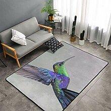 Luxusbereich Purplre Kolibri Kunst Teppich für