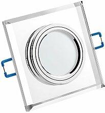 LUXVENUM®   10x LED Einbau-Strahler   3W statt 25W   GU10 230V   warmweiße Lichtfarbe dank Einbauleuchten   Leuchtdiode aus Glas mit Aluminium   10er Set warmweiß 3000K SONDERPREIS SONDERPOSTEN