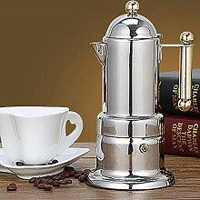 Luyao Haushalt Espressomaschine Edelstahl Mokka