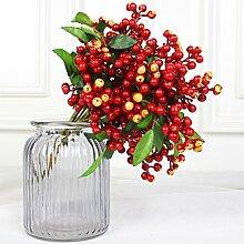 luyue 22,9cm Fake Berry Spray Aritificial Blueberry Fruits Craft Arrangement Zubehör Home Decor Set von 7 ro