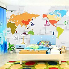 Luzhenyi Wallpaper 3D Stereoskopische Weltkarte