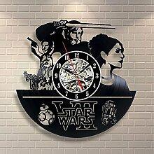 Luziang Vinyl Record Wanduhr Kreative Star Wars
