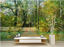 Lvabc 3D Grün Wald Fototapete Tapeten Für Wände