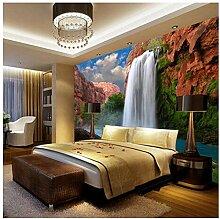 Lvabc Fototapete 3D Wasserfälle Natur Wandbild