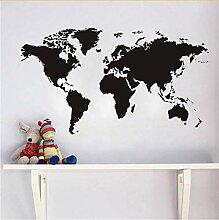 Lvabc Weltkarte Atlas Wandaufkleber Aufkleber Diy