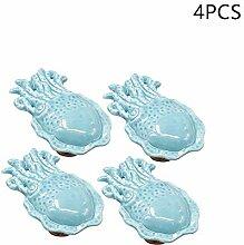 Lvcky Möbelknauf aus Keramik, Oktopus, für