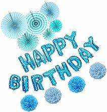 Lvcky selbstaufblasendes Banner Happy Birthday,