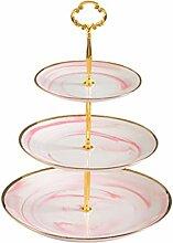 LVPY Etagere, 3-stufig aus Keramik Cupcake