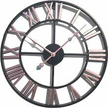 LVPY Wanduhr im Antik-Look aus Metall, Durchmesser