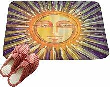 LvRaoo Fußabtreter Ethnisch Sonne Mond