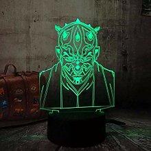 LVYONG 3D Optical Illusion Lampe,3D Nachtlicht
