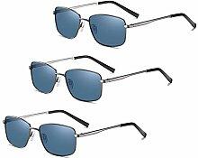 LVYY Neue Männer Retro-polarisierte Sonnenbrille,