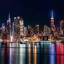 LWATML 3D Tapeten Stadt Nachtansicht