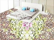 LWCX Europäische 3D Wandbild Tapete Vinyl Bodenbelag Badezimmer Grünes Wasser Schwimmende Wasserdicht Wallpaper Für Badezimmer 3D-Stock 280X200CM