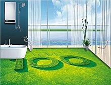 LWCX Maßgeschneiderte 3D-Bodenbeläge Natur Wallpaper Vinyl Bodenbelag Badezimmer Wohnzimmer Selbstklebende Tapete 250X175CM