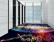 LWCX Maßgeschneiderte 3D-Bodenbelag Badezimmer Wandbild Hinweis Abstraktes Muster 3D-Pvc Bodenbeläge Wasserdicht Wallpaper 250X175CM