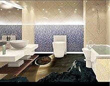 LWCX Maßgeschneiderte 3D-Bodenbelag Badezimmer Wandbild Planet 3D-Pvc Bodenbeläge Wasserdicht Wallpaper Stereoskopischen 3D-Wallpaper 308X250CM