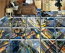 LWCX Schlafzimmer Tapete Custom 3D Bodenfliesen 3D