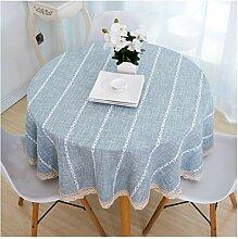 LWF Tischdecke, rund, für Zuhause, Esszimmer,