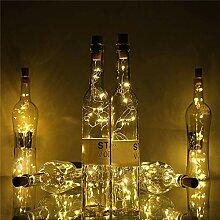 Lwind 2 Lichter Mode 20 LED Kork Form Weinflasche