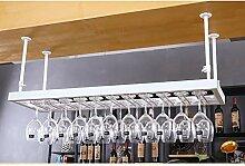 Lwjj Weinregal mit Regal und Stielglas Glashalter