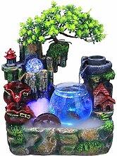 LWLJCFFF Harz Indoor Steingarten Brunnen Mini