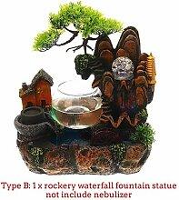 LWLJCFFF Harz Steingarten Wasserfall Statue